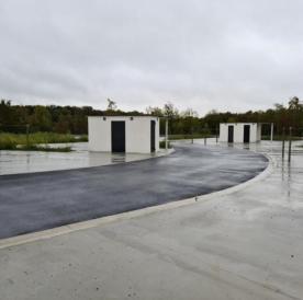 Installation de sanitaires pour l'aire d'accueil des gens du voyage de Creil (60100)