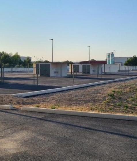 Installation de sanitaires pour l'aire d'accueil des gens du voyage de Nîmes (30000)