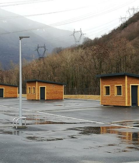 Installation de sanitaires pour l'aire d'accueil des gens du voyage d'Albertville (73200)